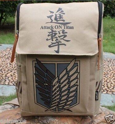 Anime Cosplay Attack on titan Shingeki no Kyojin Schoolbag Shoulder Bag Backpack