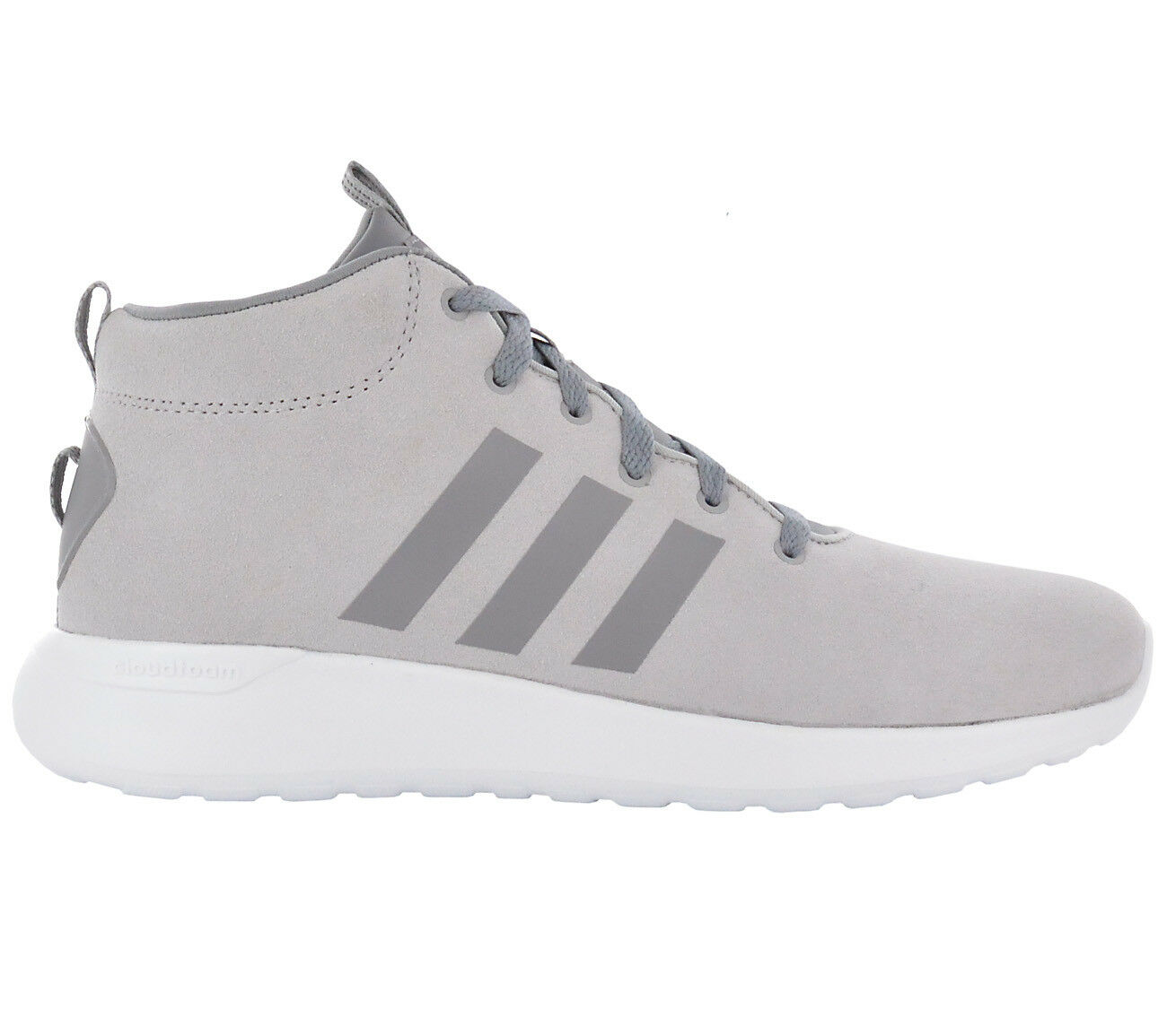 Adidas Mens Trainer CLOUDFOAM Lite Racer Mid CF shoes Grey Leather Sneakers