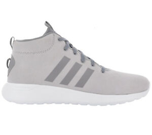 Adidas Men 's Sneakers Cloudfoam Lite Racer Mid CF Shoes Grey Leather Trainers