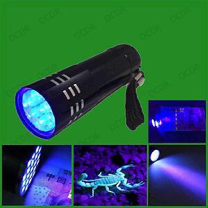 Detector uk... Gas Leak Forensic Blood Ultra Violet LED UV Black Light Torch