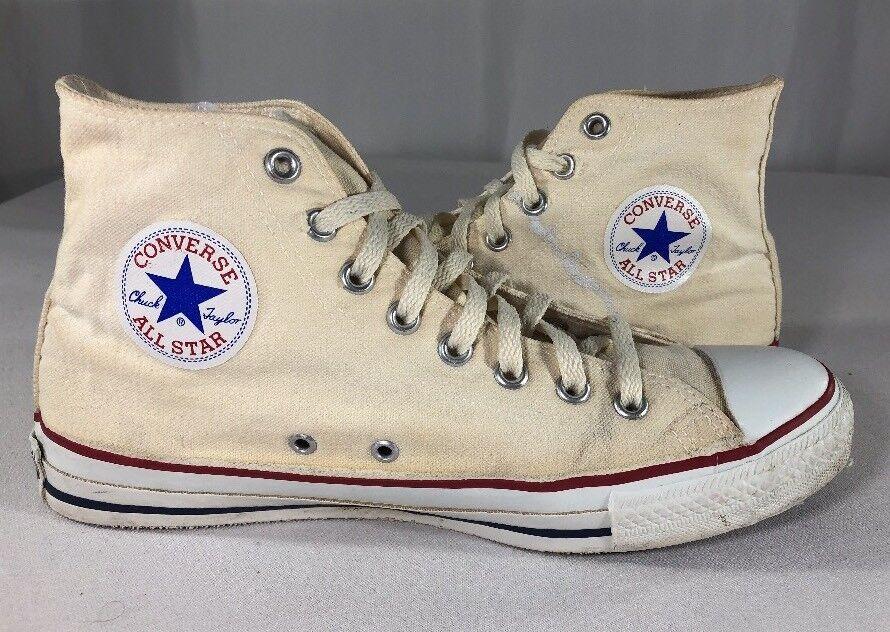 VTG Converse All Star Chuck Taylor Uomo's 9.5  Made USA High Top 70s 80s