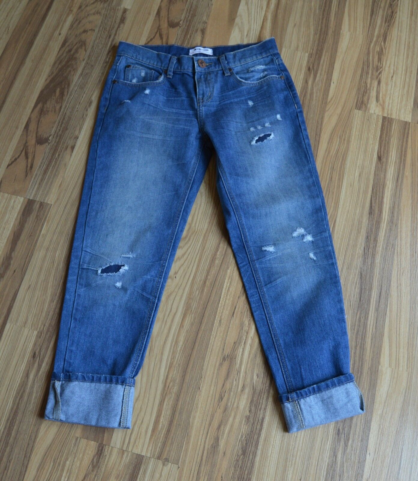 NWOT  One X One Teaspoon Destressed Awesome Baggies Jeans Sz 26 Low Rise