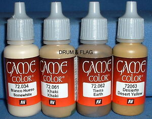VALLEJO-GAME-COLOR-PAINT-DESERT-CAMO-CAMOUFLAGE-SET-4-x-17ml-bottles-DF23