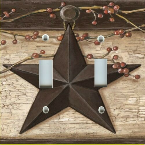 Light Switch Plate Cover RUSTIC COUNTRY BARN STAR PRIMITIVE Wall Plate Covers