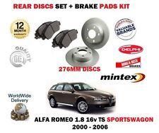 für Alfa Romeo 156 1.8 TS Sportswagon 2000-2006 Bremsscheiben SET HINTEN + Belag