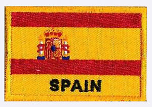 Ecusson-patche-patch-badge-drapeau-ESPAGNE-70-x-45-mm-Espana-brode