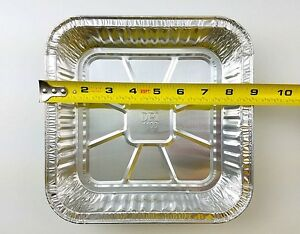 50 Pk 9 Quot X 9 Quot Square Aluminum Foil Cake Pan Disposable