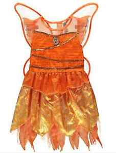 Image is loading NEW-Girls-Disney-Fairies-Orange-Fawn-Fairy-Fancy-  sc 1 st  eBay & NEW Girls Disney Fairies Orange Fawn Fairy Fancy Dress Up Costume ...