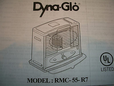 Dyna Glo RMC 55 R7 Owners Parts Manual EBay