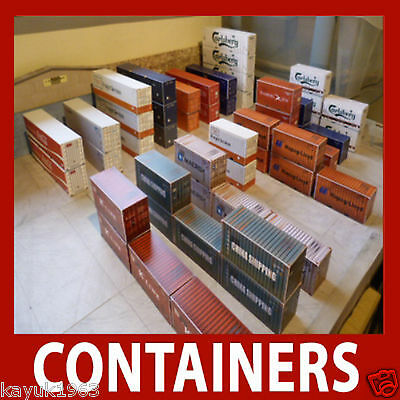 1:160 N Gauge Model Shipping Container Card Kits x 12 Mixed 40ft//45ft
