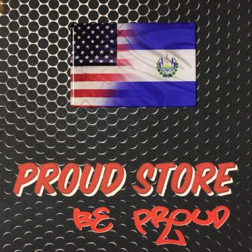 "America USA El Salvador Dual Country Domed Decal Distress Sticker 3D 3.25/""x2/"""