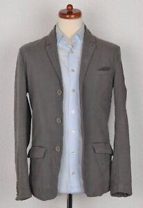 TRANSIT-Uomo-Sakko-Jacket-Gr-XS-Baumwolle-Cotton-Unstructured-Made-Italy-Grau