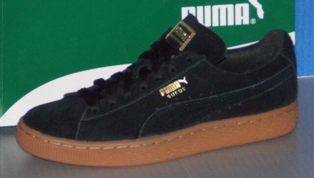 5b0fb094c51 PUMA Suede Classic Gold Collection Women SNEAKERS Shoes 364225 02 Black  Size 6.5