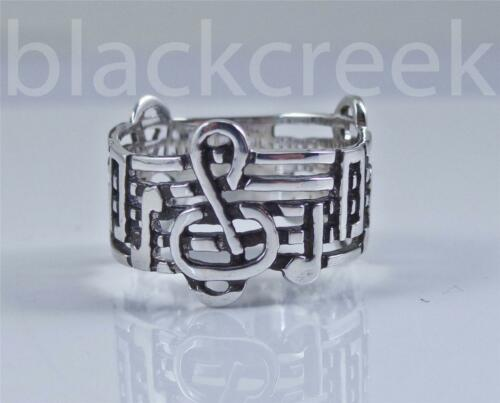 .925 Sterling Silver ~  Clef ~ Music Note ~Band~ Choose Size