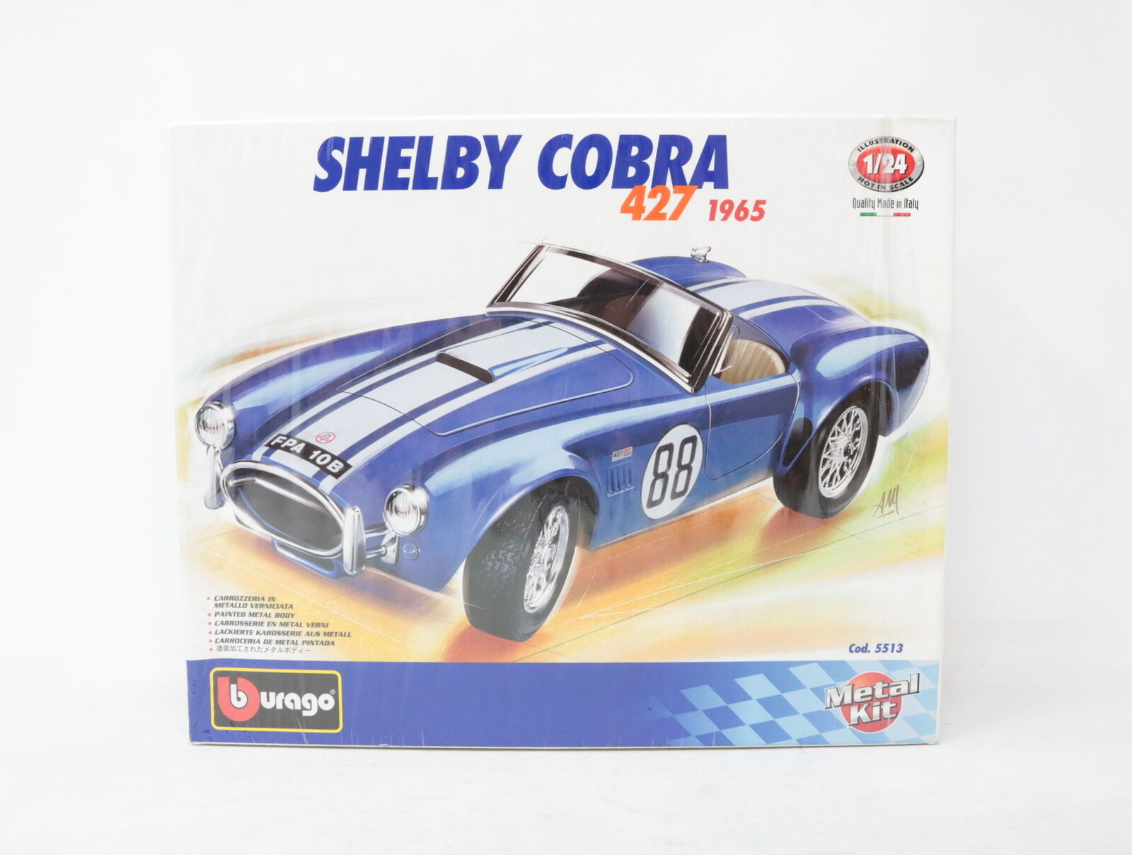 1 24 BBURAGO METAL KIT SHELBY COBRA 427 cod. 5513  [YE-018]
