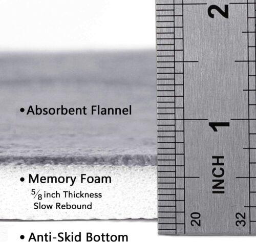 Super Soft Microfiber Bath Mat S Details about  /Memory Foam Coral Fleece Non Slip Bathroom Mat