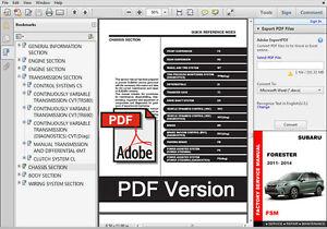 image is loading 2011-2012-2013-2014-subaru-forester-oem-workshop-