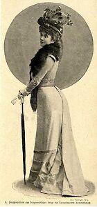 Straßentoilette Aus Dragonerblauer Serge Mit Samtbesatz * Bilddokument 1900 Geschickte Herstellung