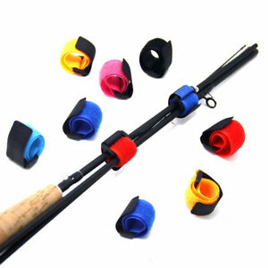 Cn-10X-Canne-a-Peche-Cravate-Support-Sangle-Bretelles-Serrage-Velcro-Cable