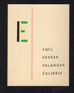 EXLIBRIS-148b-Kuenstler-unbekannt-artist-unknown-Schriftexlibris