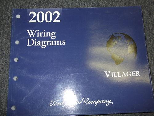 2002 Mercury Villager Van Wiring Electrical Wiring Diagram Shop Manual EWD EVTM