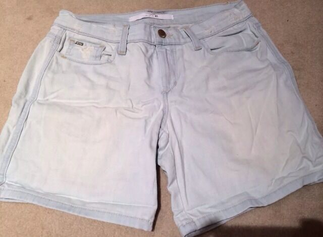 Joes Jeans Womens Denim Shorts Cut Off Destroyed Light Wash 26 2 Small S