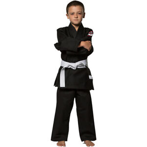 299261e81f05 Fuji All Around BJJ Kids Black Gi (Single Weave)