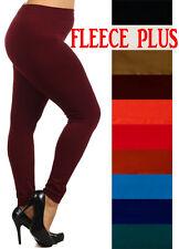 High Waist Fleece Legging WARM seamless Jeggings skinny full length pants S-2XL