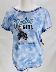 Outback-Trading-Company-Rodeo-Girl-Tie-dye-Blue-Womens-Large-NWT
