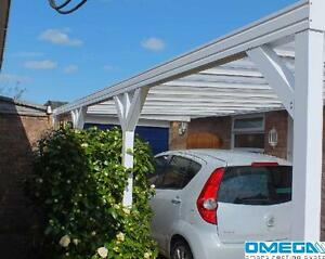 aluminium canopy carport patio cover with knee braces 3m projection ebay