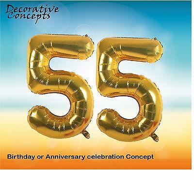 Bleu numéro 55th anniversairefête géantballonshéliumfoil balloon