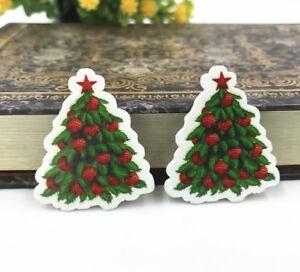 Christmas Tree Wooden Handicrafts Fit Decoration Scrapbooking Diy
