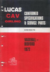 Vauxhall-Bedford-1972-Viva-Victor-VX4-90-Ventora-Cresta-Viscount-CF-TJ-Bus-Lucas