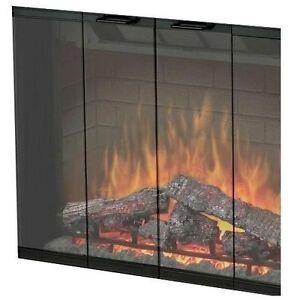"Dimplex Single-Pane 29 1/8"" BiFold Look Glass Door for Built-In Electric Firebox"