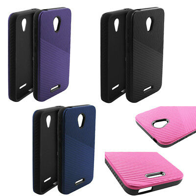 100% authentic ae11f 24e03 Phone Case for Tracfone Alcatel Raven LTE A574BL Textured Embossed Lines  Cover   eBay
