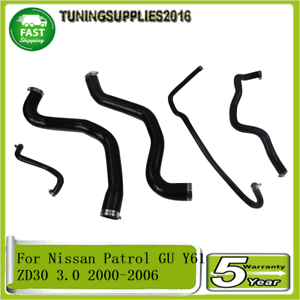 For-Nissan-Patrol-GU-Y61-ZD30-3-0-2000-05-2006-Silicone-Radiator-Hose-Pipe-Kit
