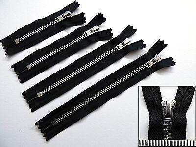 6 inches Metal YKK Zip Lightweight Zipper Black,3,4,5 Closed End