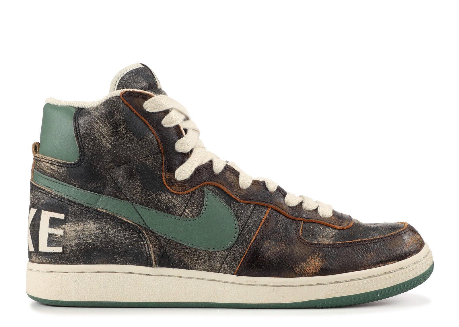 Nike Terminator Hi Premium, Black Nori-Dark Brown-Net Sz. 11.5 [Sty ]