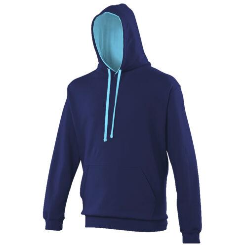 Unisex Adult Men Women Varsity Cotton Rich Hoodie Hooded Top