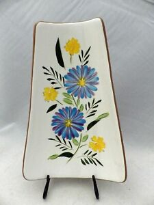 Stangl-Pottery-Country-Garden-Pattern-Large-Relish-Dish-11-1-4-034-long-EUC