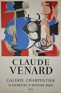 Claude-VENARD-Affiche-originale-Galerie-Charpentier-1959