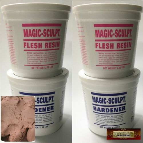 M02053x2 MOREZMORE 10 lb FLESH Magic Sculpt Sculp Epoxy Clay Model Putty