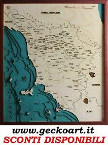 Www Cartina Toscana.Toscana Mappa Cartina 3d Quadro Moderno Map Chart Www Geckoart It Ebay