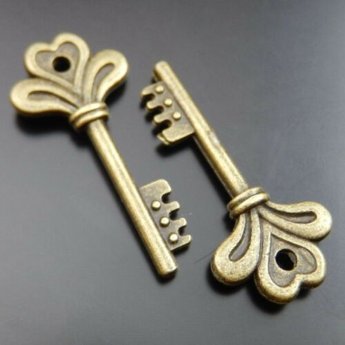 39917 Vintage Bronze Queen Key Pendants Charms Jewelry Findings 13*29mm 25pcs