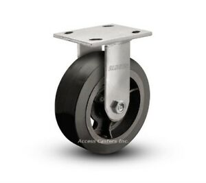 "Mold-On-Rubber Wheel  600 LB Capacity 8/"" X 2/"" Dumpster Swivel Caster CASTERHQ"