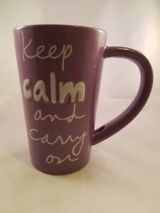 Keep Calm And Carry On Coffee Mug Cup Sandra Magdamen Ebay