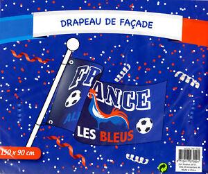 Drapeau FRANCE 150 x 90 cm FRANCAIS Flag Polyester NEUF Sport Foot Coq Les Bleus