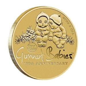 Australia-2016-May-Gibbs-Gumnut-Babies-100th-Anniv-1-Dollar-UNC-Coin-Carded
