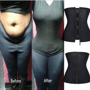 1bcdbf11d7752 Image is loading Women-Sport-Latex-Rubber-Waist-Trainer-Cincher-Short-