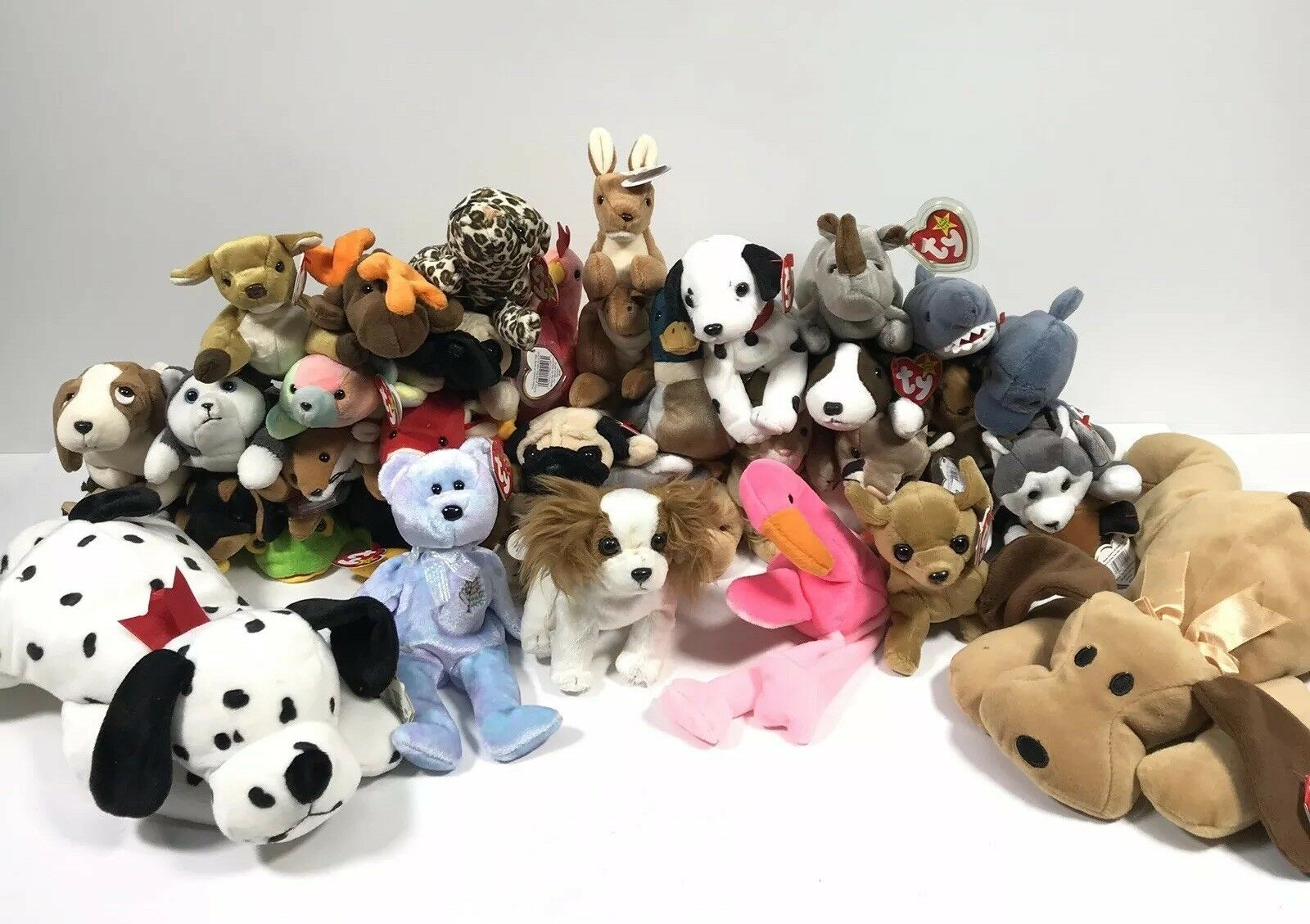 Lot of 39 TY Original BEANIE BABIES With With With Tags deef67